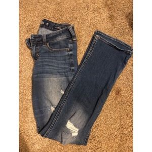 Hollister Low Rise Bootcut with holes